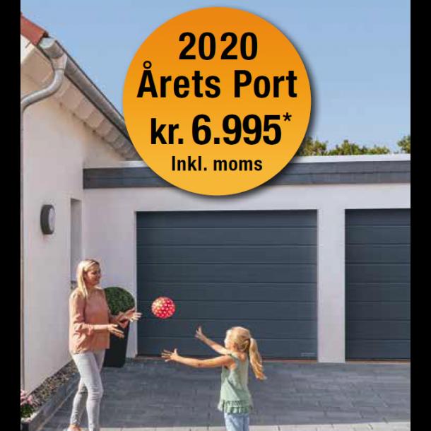 Årets Port 2020 M-Profil Woodgrain Overflade